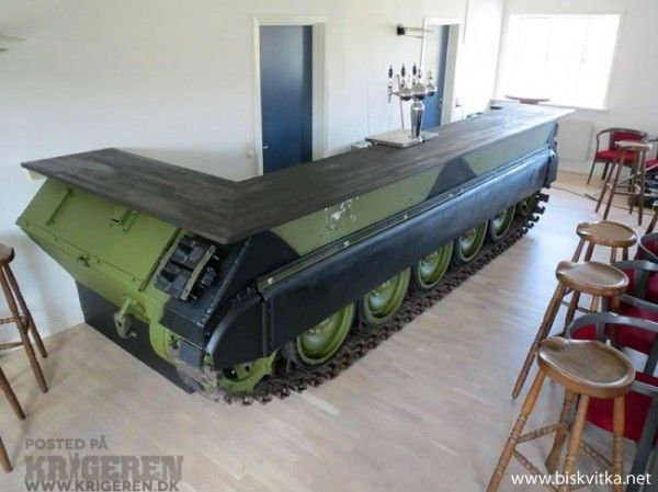 Man Cave With Tank : Bar made from a recycled tank upcycle and men cave