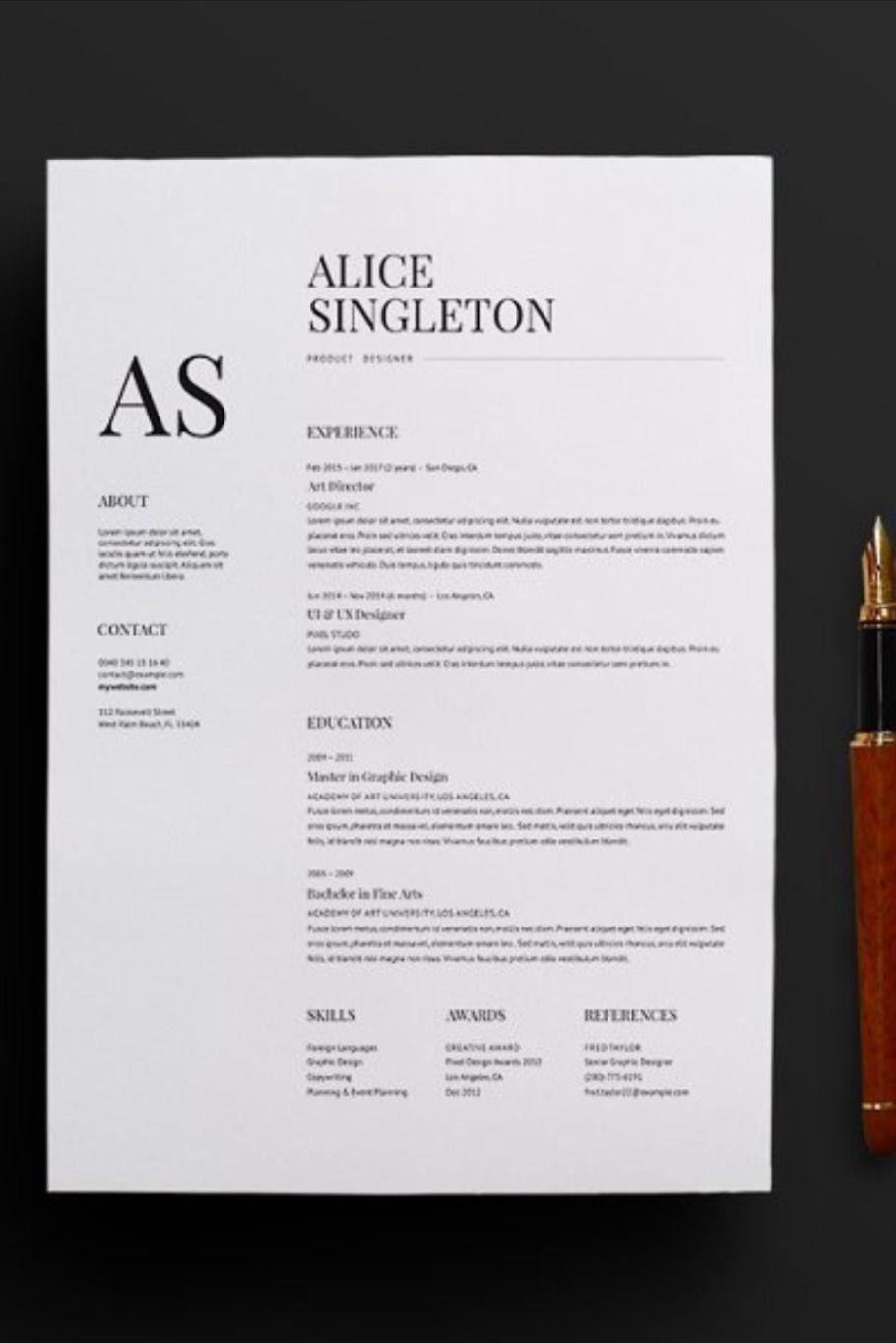 Elegant resume in 2020 with images best resume