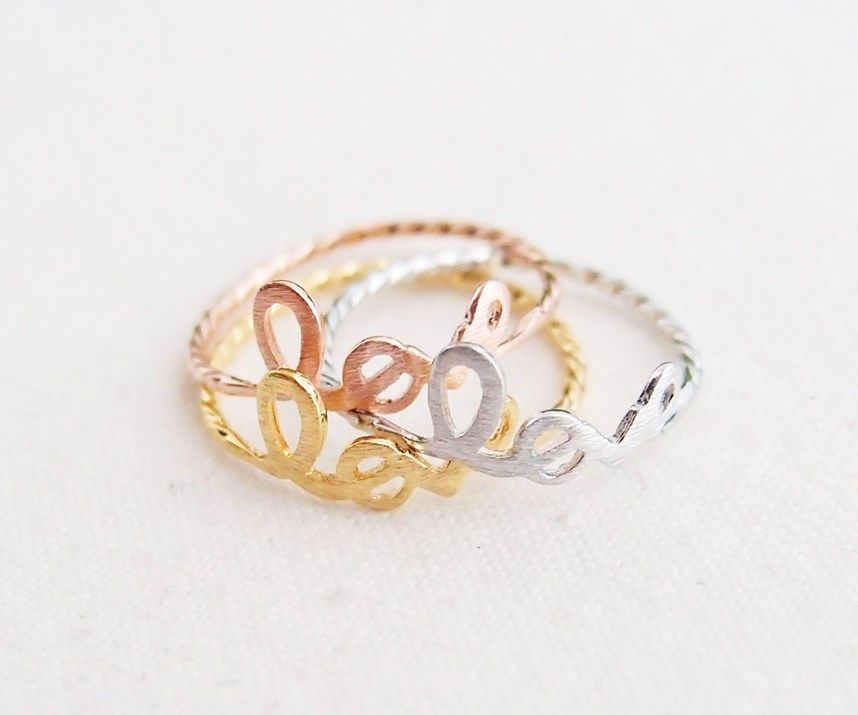 [W8050-R-G]ring - Gold Plated Love Ring (US 6.5)