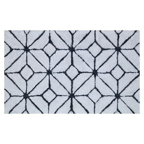 White And Black Diamonds Bath Mat  Room Bathroom  Pinterest Brilliant Black And White Bathroom Rugs Design Decoration