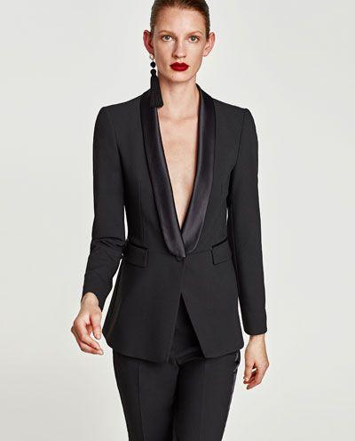 943cb227a Imagen 2 de BLASIER SMOKING de Zara | Blusas en 2019 | Vestidos ...