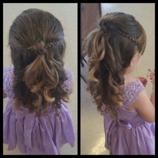 Wedding Hair Style For Little Girls: Pin By Nancy Payan On Ideas In 2019