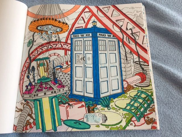 doctor who colouring book kaputte tardis