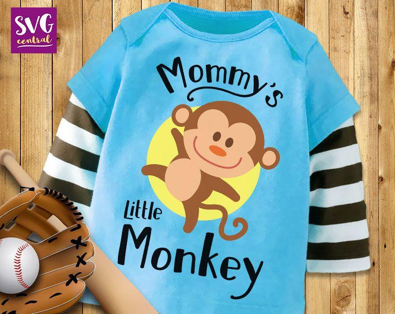 Little Monkey SVG monkey svg mommy's little monkey Etsy