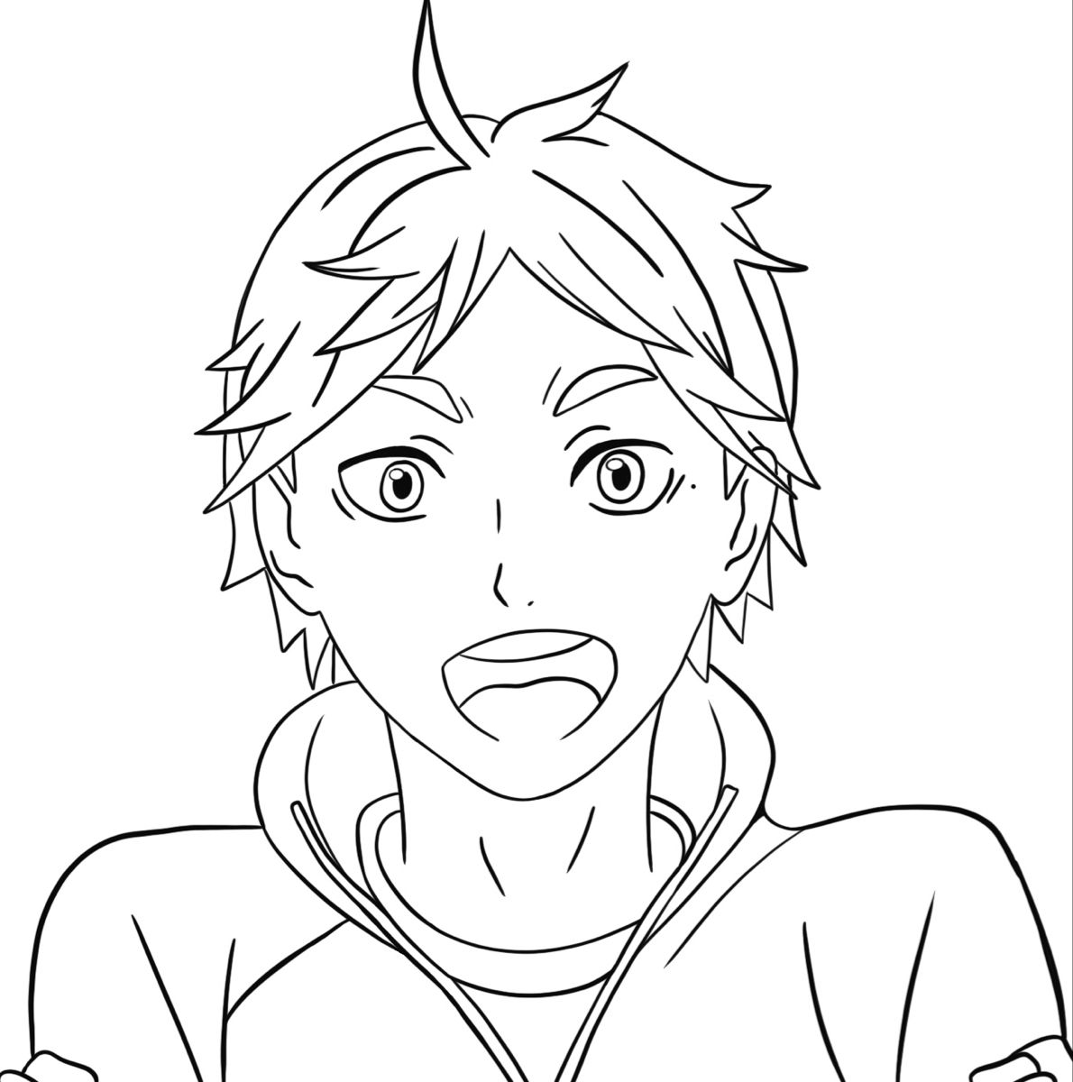 Sugawara Coloring Page 1 In 2021 Anime Character Drawing Anime Drawings Sketches Anime Lineart