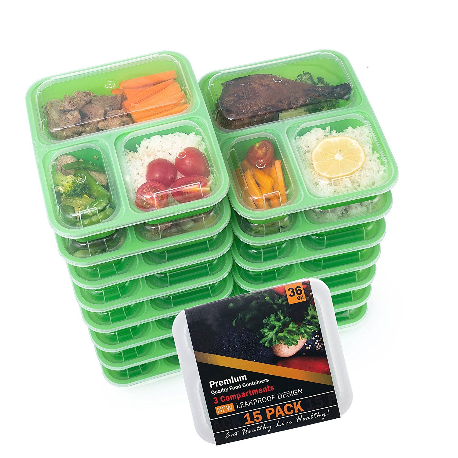 Food storage container 15pack meal prep