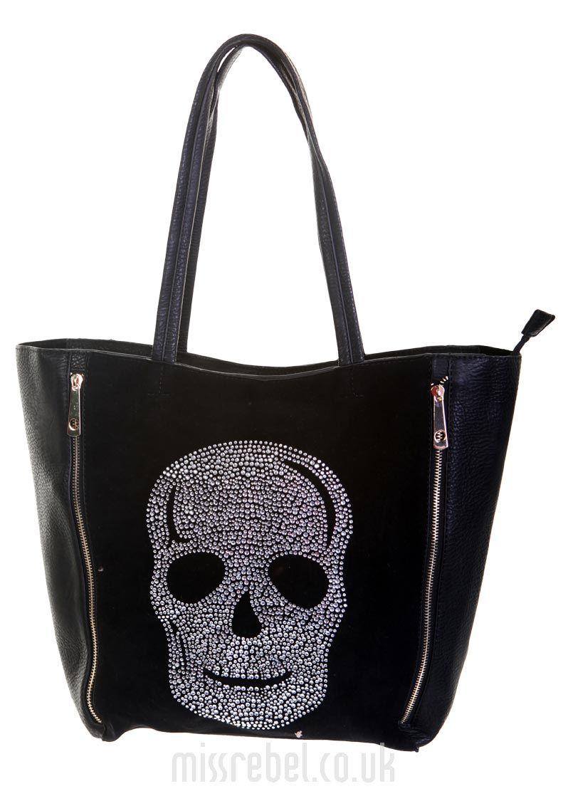 Zip Front Skull Bucket Bag  336665db3fc39