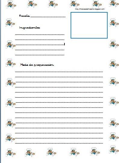 Resultado de imagen de plantillas para cuadernos de for Plantillas de cocina
