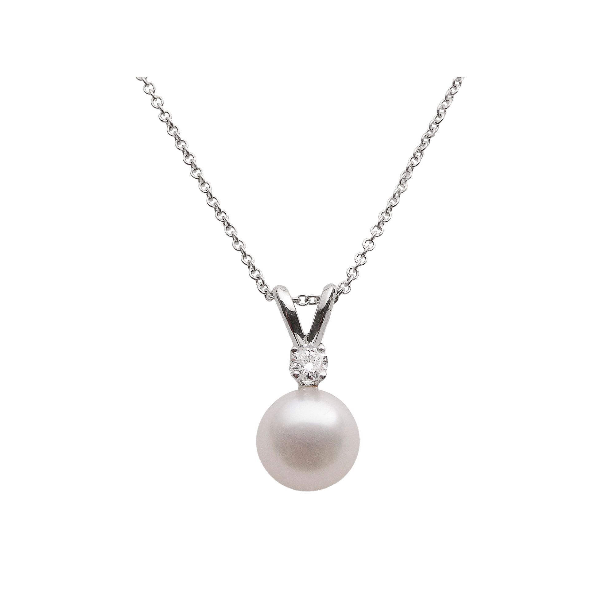 products necklaces jewelry gold white dew pendant and cultured akoya diamonds mikimoto necklace enlarged morning pearl