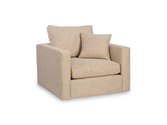 Cosper Swivel Chair - 4 in fireplace room to swivel to view tv - custom fabric Doss Bone