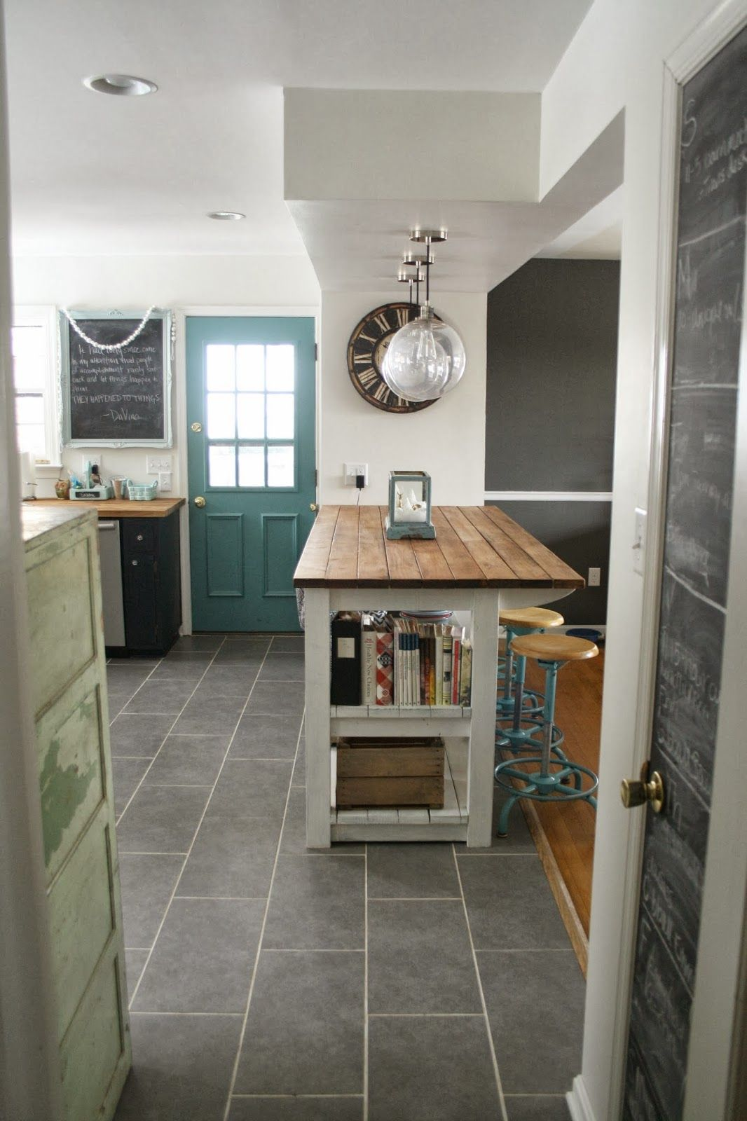 Primitive & Proper: My Industrial Look Kitchen Island (and that time ...