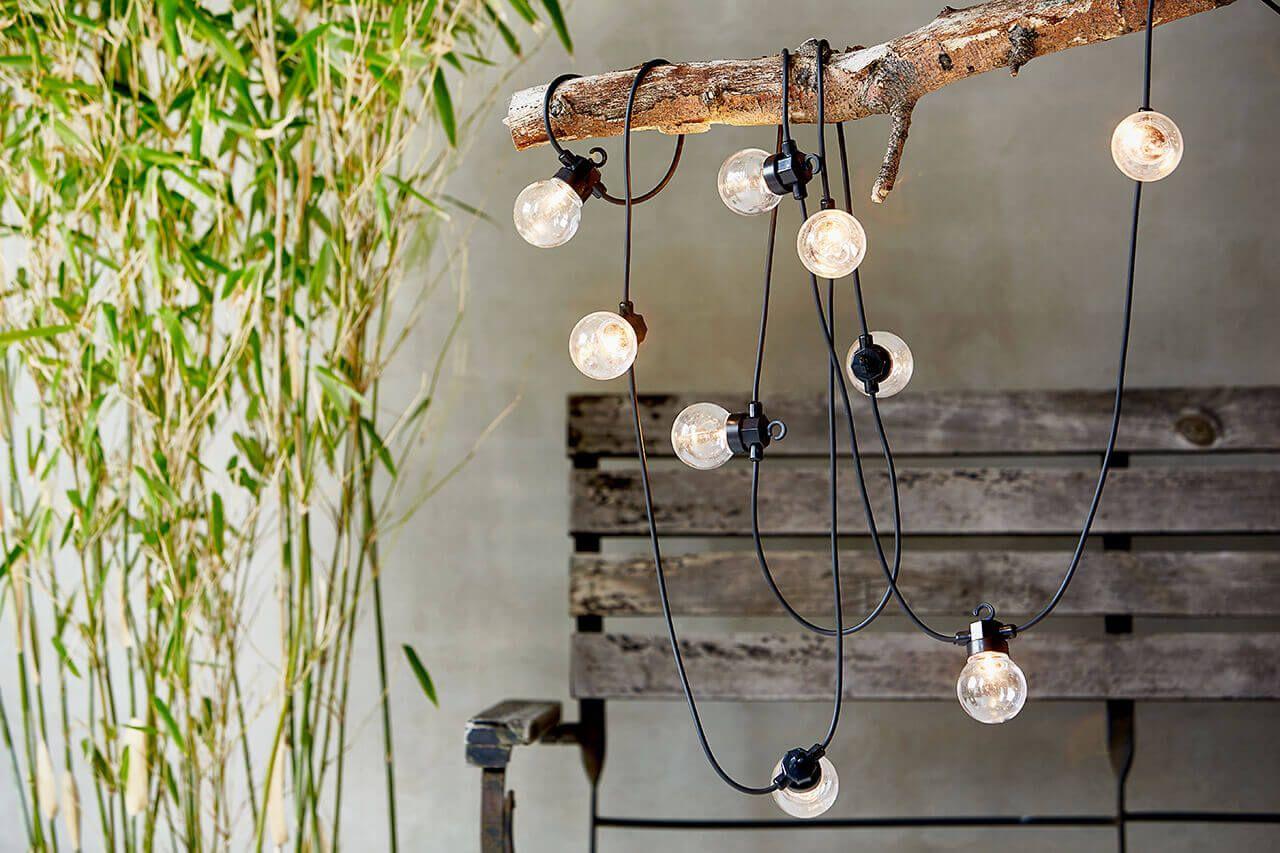 lichterketten, garten lampen   licht   pinterest