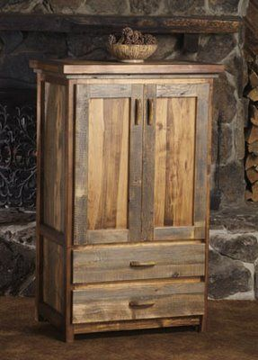 We Proudly Offer This Wyoming Reclaimed Wood Armoire   2 Drawer And Other  Fine Rustic American Made Reclaimed Wood Furniture And Décor.