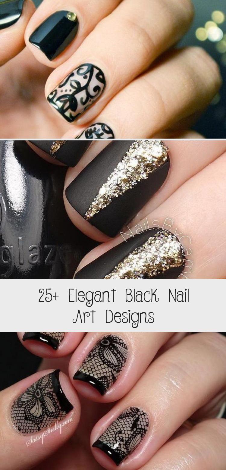 Photo of 25+ Elegant Black Nail Art Designs – Beauty