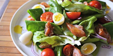 Butter leaf lettuce candied salmon and quail egg salad recipe butter leaf lettuce candied salmon and quail egg salad recipe pinterest quail eggs quails and egg salad forumfinder Choice Image