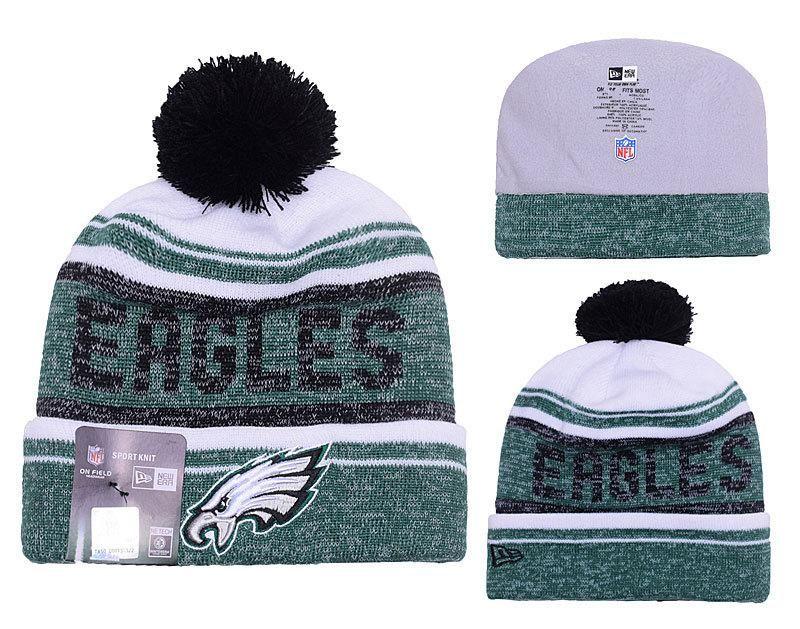 02830a345be ... cheap mens womens philadelphia eagles new era 2016 nfl snow dayz knit  pom pom beanie hat