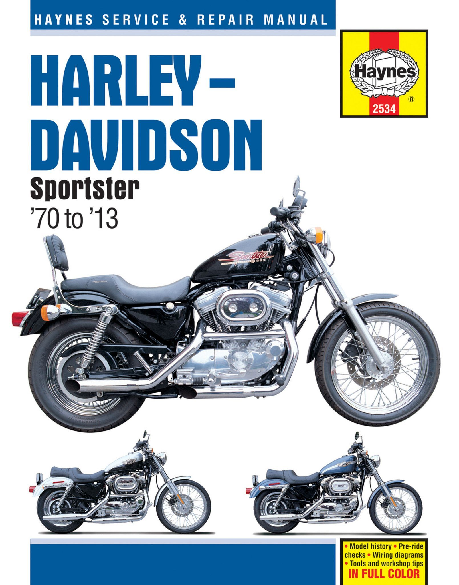 Haynes M2534 Repair Manual for 1970-13 Harley-Davidson Sportsters XL / XLH  / XLCH / XLS / XLX With 883/1000/1100
