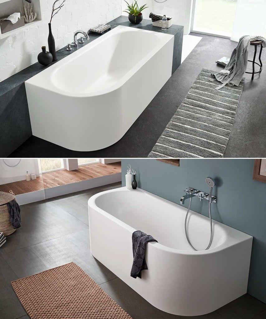 Ideen Fur Freistehende Badewanne An Der Wand Von Mauersberger Badewanne Freistehende Badewanne Badewanne Eckig