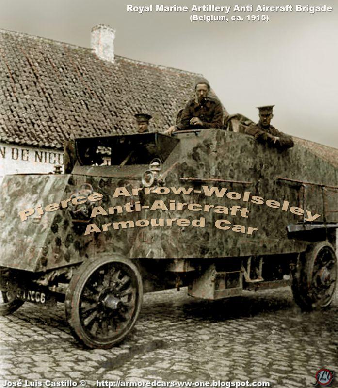 Pierce Arrow Wolseley Armored Car 48 Vehicles Were Produced 16