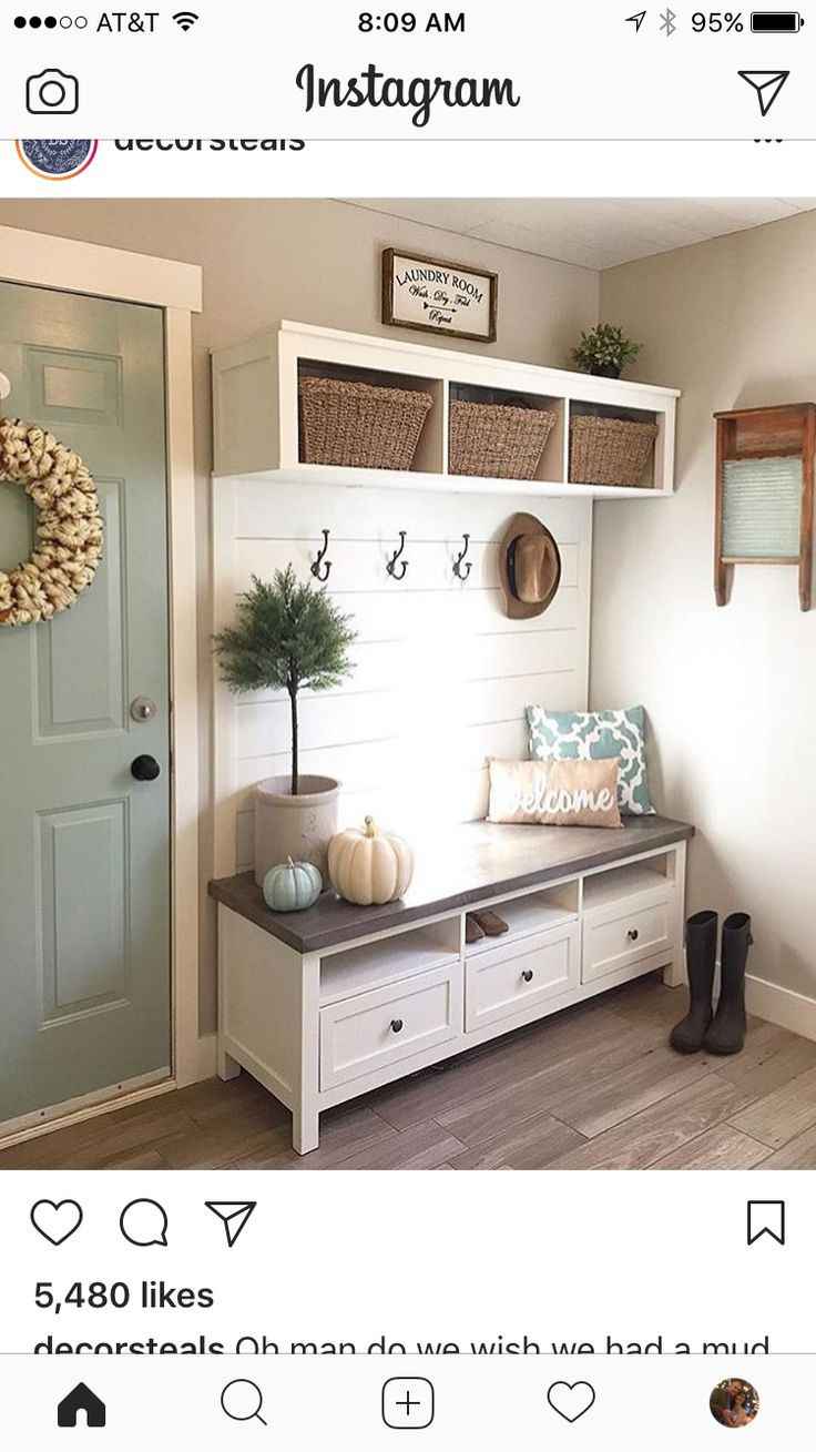 Photo of 70++ reference of entryway bench with mirror above