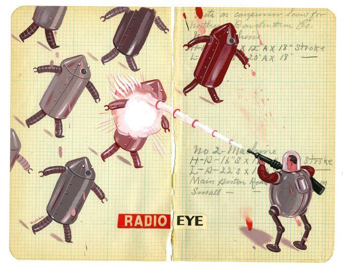 Ryan Heshka's futurist illustrations.