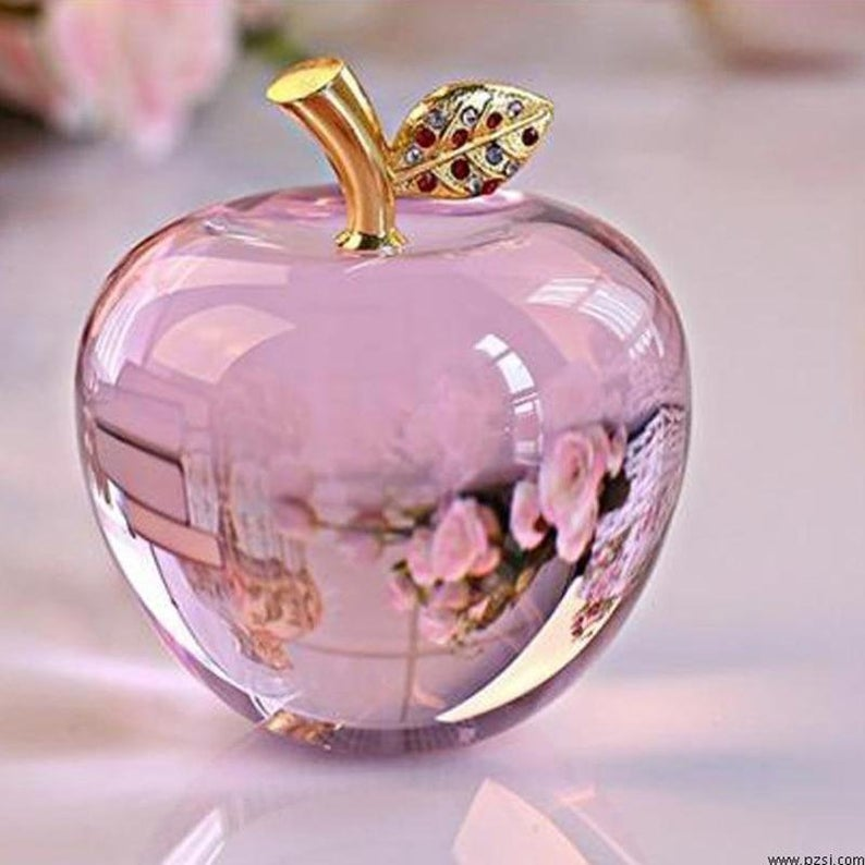 80MM Crystal Apple Paperweight Wedding Decoration