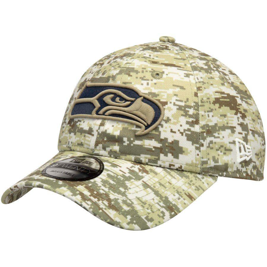 best sneakers c3876 29b40 Men's Seattle Seahawks New Era Camo Digi 9TWENTY Adjustable ...