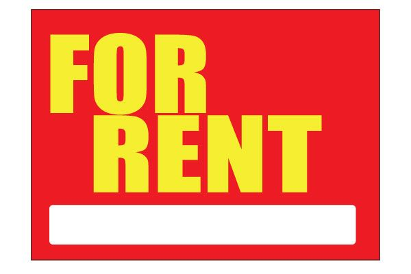 printable for rent sign red free download pdf
