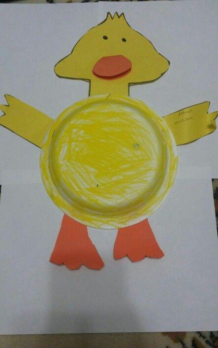Duck craft idea for kids & Plastik tabaktan ördek yapma | okul öncesi etkinlikleri | Pinterest