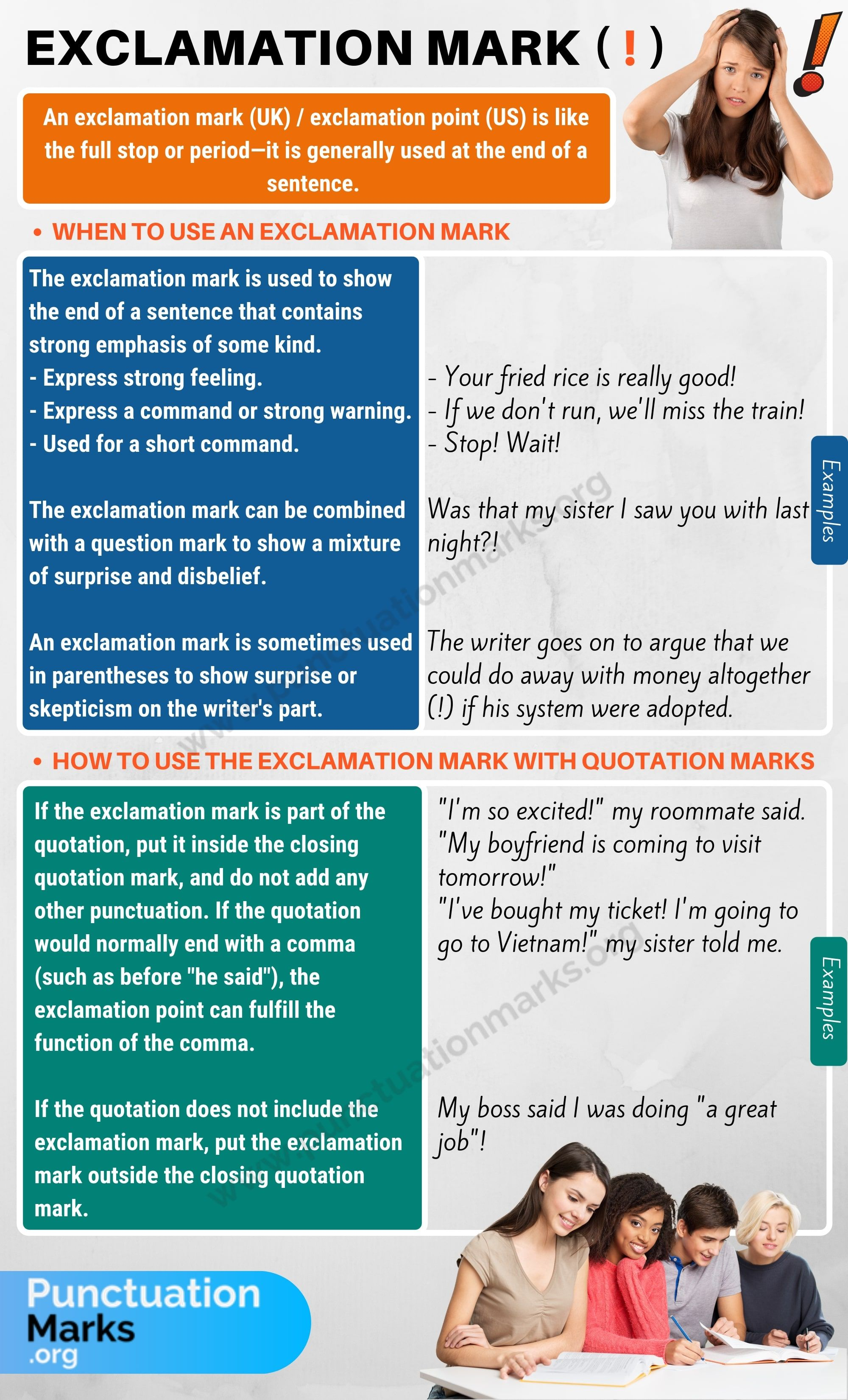 Exclamation Mark Exclamation Point Rules Amp Examples