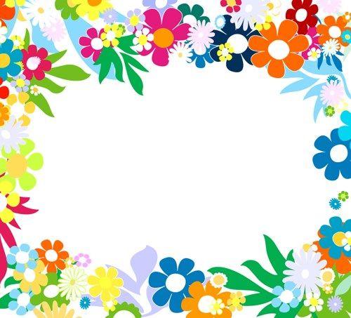 Vector of Spring Fresh Flower Frame set 02 e-frames Pinterest - fresh invitation template vector