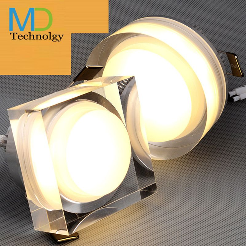 Crystal Downlight Roundsquare W W W W LED Ceiling Spot Light - Kitchen lighting led downlights