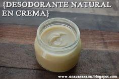 Una Casa Sana: {Desodorantes Naturales} 1: en Crema