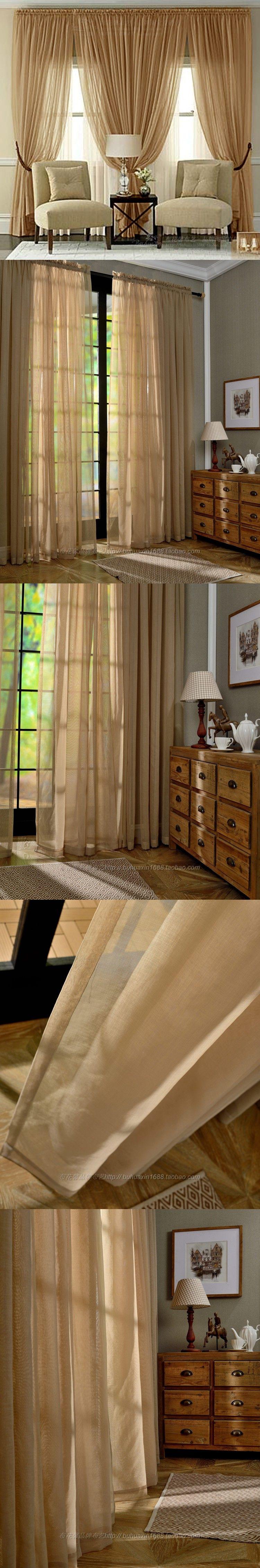 Room Custom European Luxury Villa Living Voile Curtains