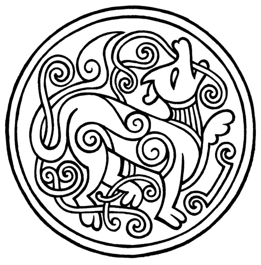 Old Norse Style Tattoo By Petrichora On Deviantart Norse Tattoo Norse Design Viking Embroidery