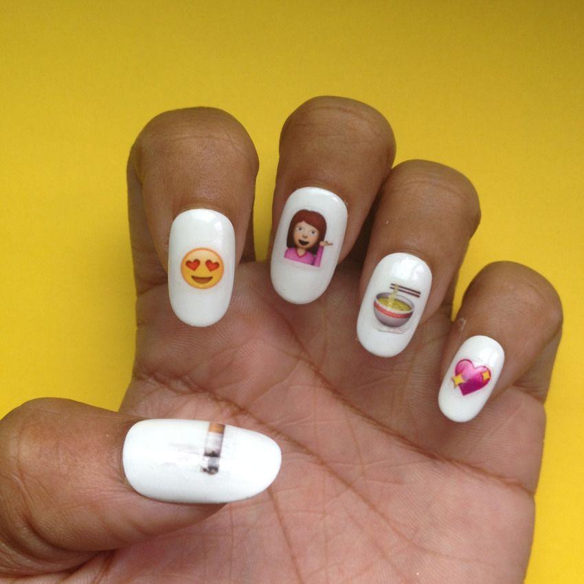 17 Expressive Emoji Items on Etsy   Emoji, Emoji nails and Nail decals