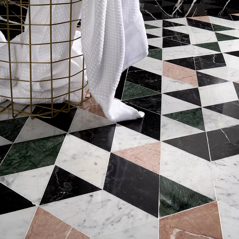 Prisma 8 X 14 Marble Mosaic Tile In 2020 Marble Mosaic Tiles Marble Mosaic Mosaic Flooring