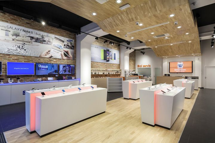 Smartphone concept store by brigada retail design blog for Retail shop exterior design