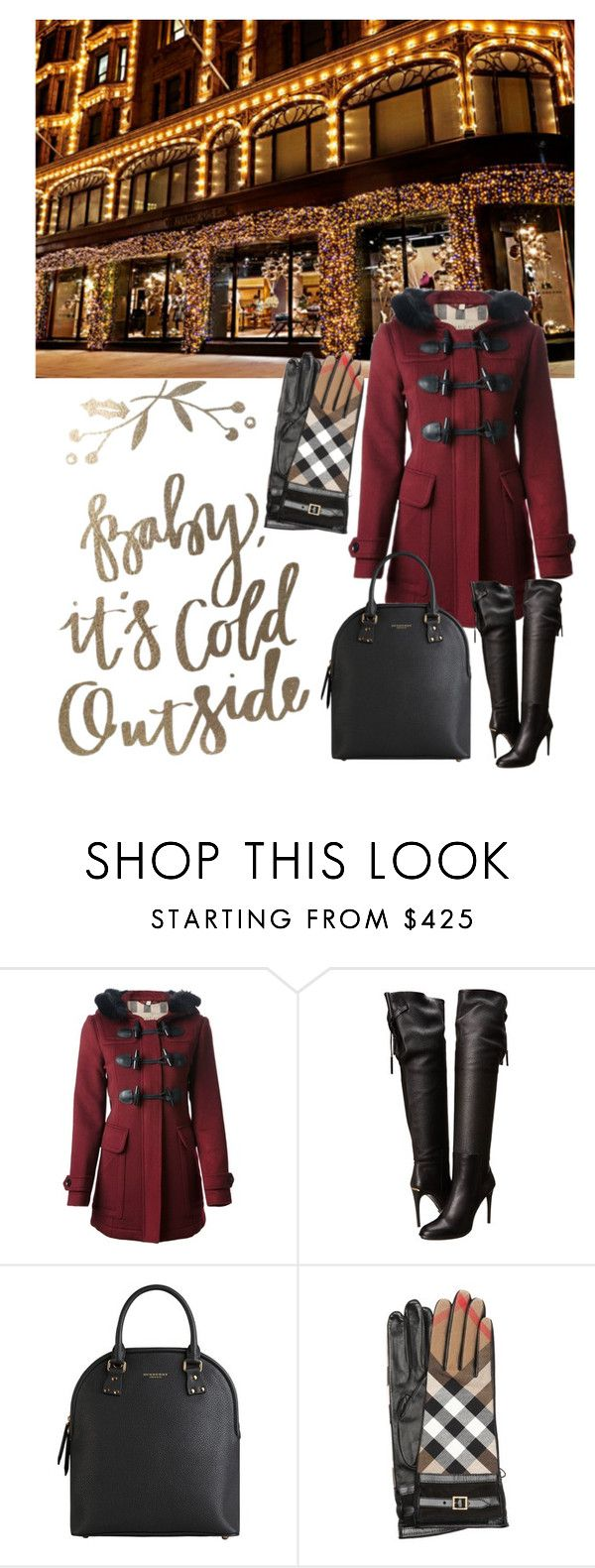 """""""Burberry Winter 2015-001"""" by queenmikhailala ❤ liked on Polyvore featuring Burberry"""