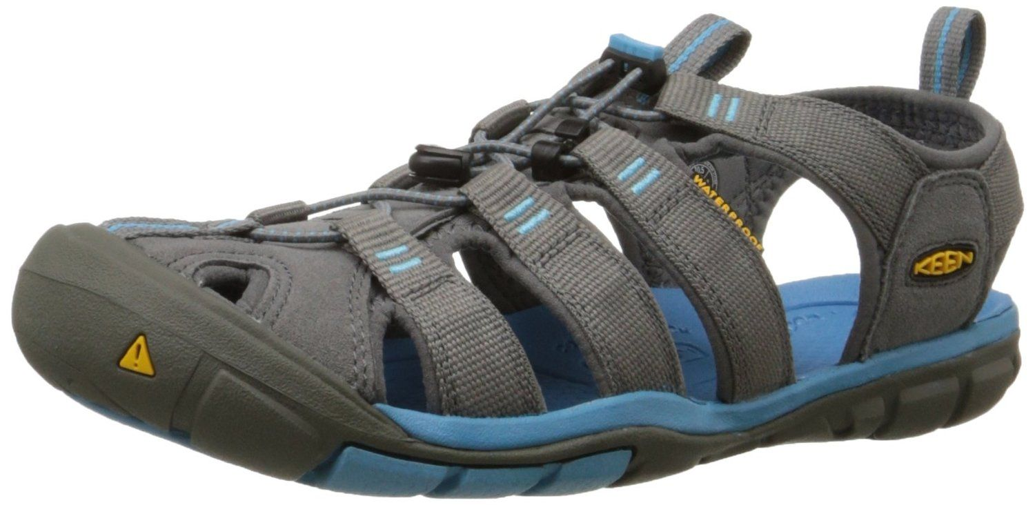 Keen Womens Clearwater CNX Walking Shoes Sandals Grey Sports Outdoors Breathable