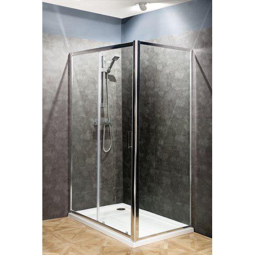 Belfry Bathroom Fogarty Pivot Semi Frameless Shower Door Shower