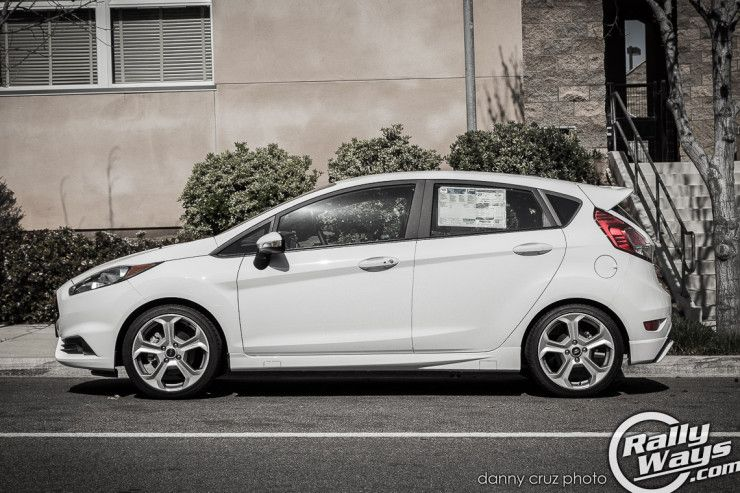 2014 Ford Fiesta St Oxford White Side Profile Fiestast