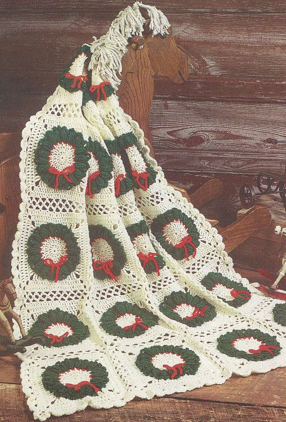 Christmas Tree Skirt Crochet Pattern Christmas Afghan Crochet