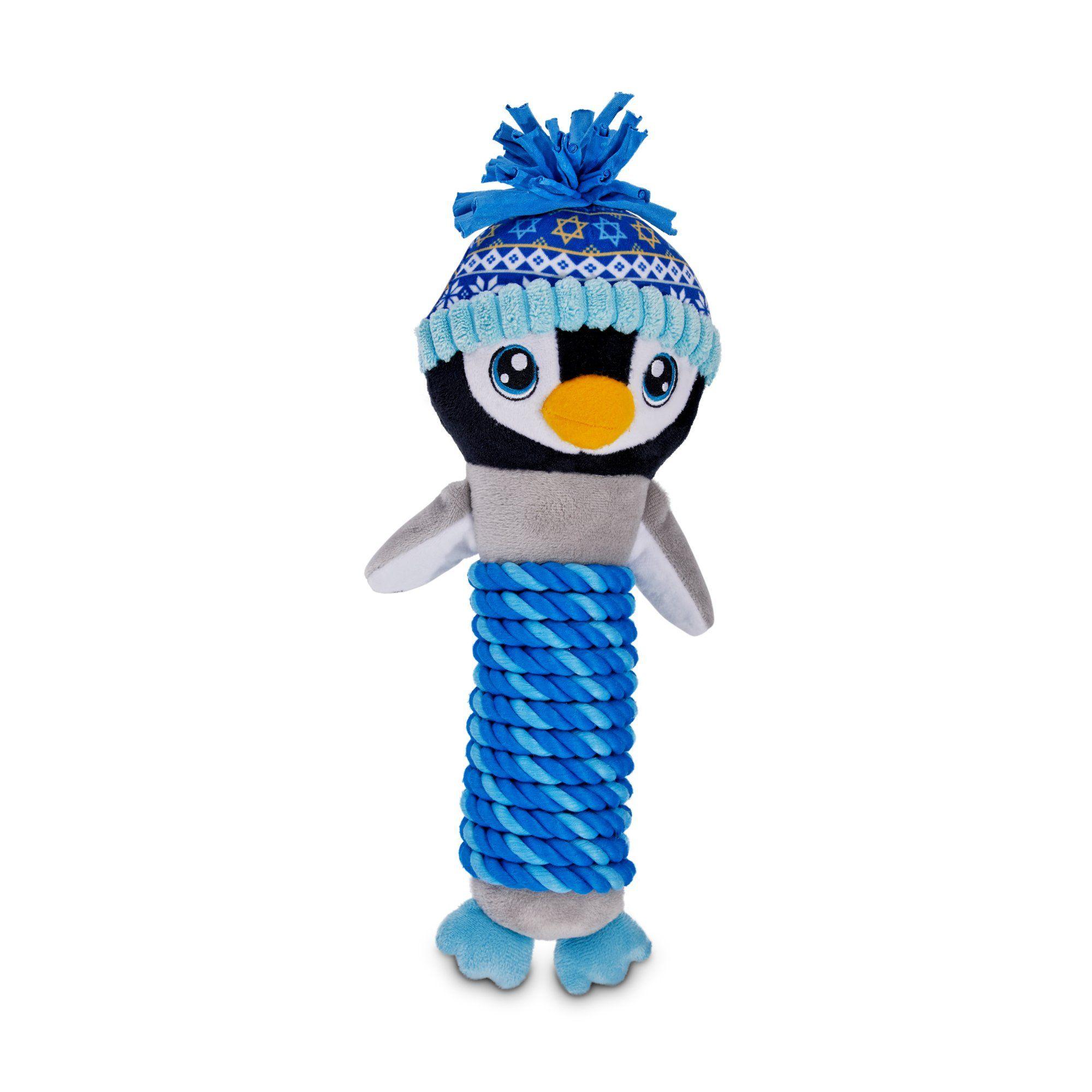 Hanukkah penguin rope stick dog toy petco holiday tails
