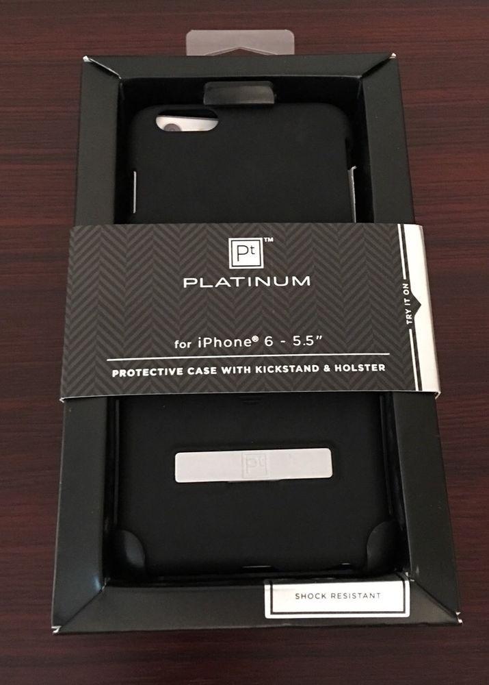 quality design 6b38c 64dcd PT Platinum Series Kickstand Case for Apple iPhone 6 Plus 5 5
