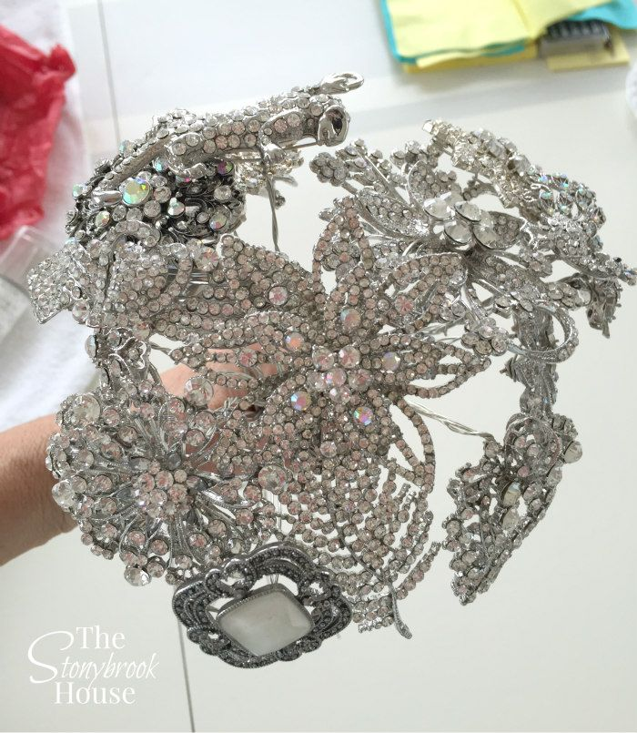 How To Make A Beautiful Brooch Bouquet | Brooches, Brooch bouquets ...