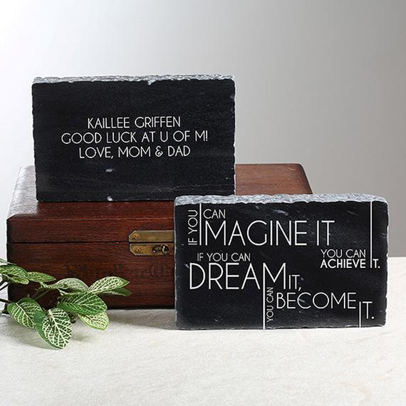 Inspiring Messages Engraved Marble Keepsake, Gifts for Grads, Office Gifts