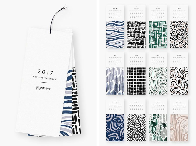 13 Modern Wall Calendars To Get You Organized For 2017 Calendars