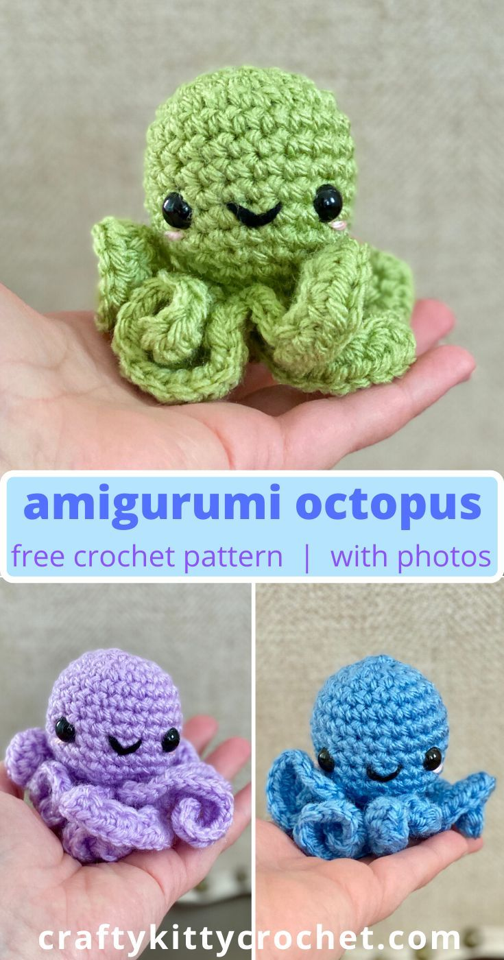 How to Crochet an Amigurumi Octopus - FREE Pattern