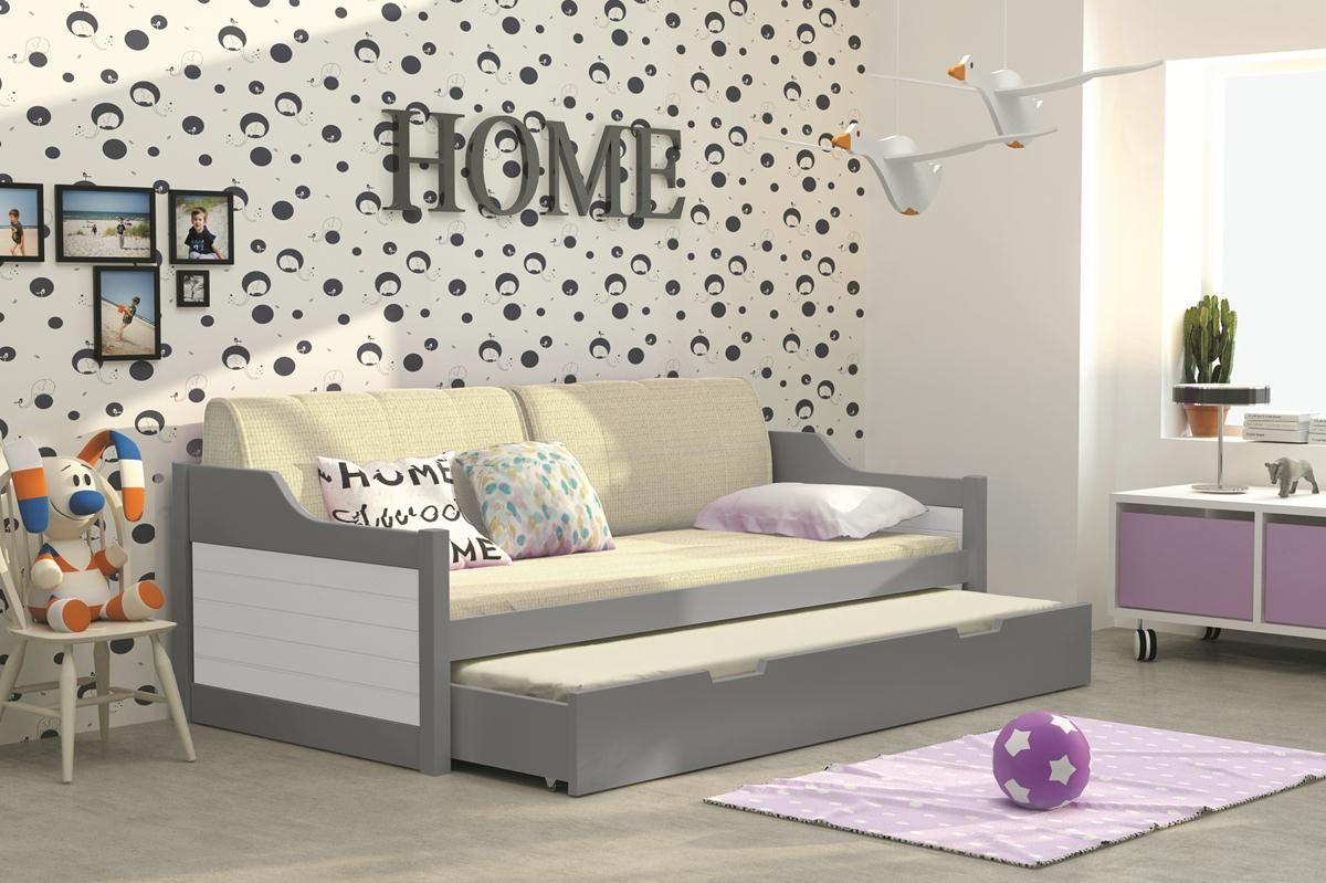 Wundervoll Doppelbett Kinderzimmer Dekoration Von Kinder-doppelbett Tobias Graphit - 8 Farben Mit